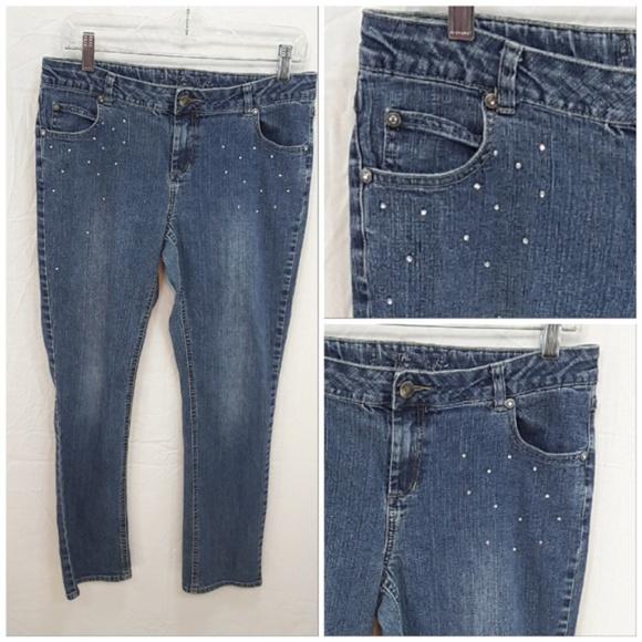 *GIRL* TOTAL GIRL, Sparkly Denim Jeans, size 16.5
